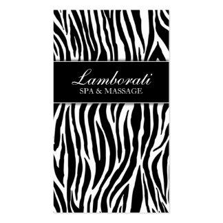 Elegant Zebra Print Fashion Hair Stylist Salon Spa Pack Of Standard Business Cards