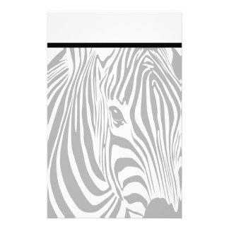 Elegant Zebra Stationery with Letterhead