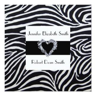 Elegant Zebra Stripe Wedding Invitation