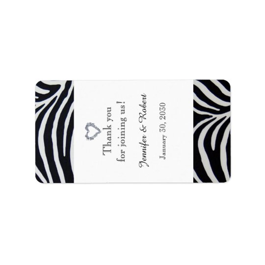 Elegant Zebra Stripe Wedding Lip Balm Label Address Label