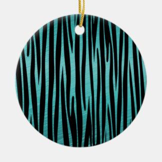 Elegant, Zebra, Stylish, Animal print Ceramic Ornament