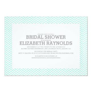 Elegant Zigzag Bridal Shower Invitations