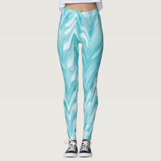 Elegant, Zigzag, Watercolor Leggings