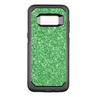 Elegante Green Glitter OtterBox Commuter Samsung Galaxy S8 Case