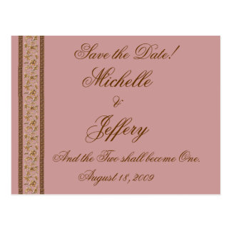 Elegante' Save the Date Post Card