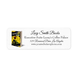 Elegantly designed for Book Based Business Return Address Label