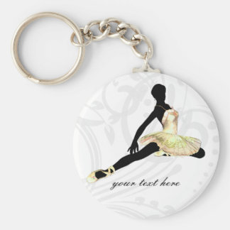 elegantly dressed ballerina in ivory key ring