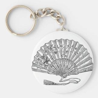 Elegantly historical Lady s fan Key Chain