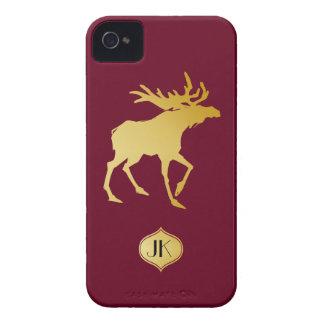 Elegantly Luxurious Gold Antler Deer iPhone 4 Cases