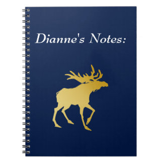Elegantly Luxurious Gold Antler Deer Notebook