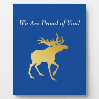 Elegantly Luxurious Gold Antler Deer Plaque