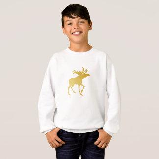 Elegantly Luxurious Gold Antler Deer Sweatshirt