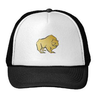 Elegantly Luxurious Gold Bear Cap