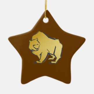 Elegantly Luxurious Gold Bear Ceramic Star Decoration
