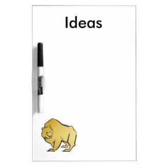 Elegantly Luxurious Gold Bear Dry Erase Whiteboards