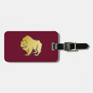 Elegantly Luxurious Gold Bear Luggage Tag