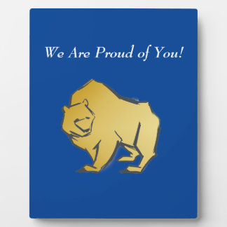 Elegantly Luxurious Gold Bear Plaque
