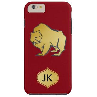 Elegantly Luxurious Gold Bear Tough iPhone 6 Plus Case