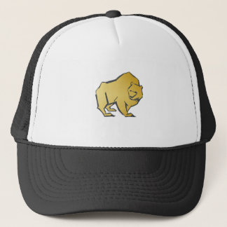 Elegantly Luxurious Gold Bear Trucker Hat