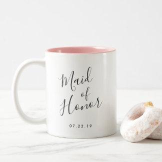 Elegantly Penned | Maid of Honor Two-Tone Coffee Mug