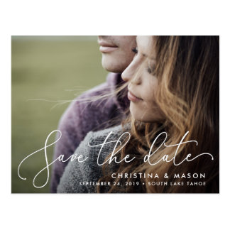 Elegantly Penned | Photo Save the Date Postcard