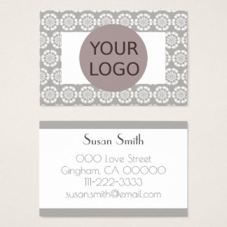 Elegantly point sample Crochet squandered points Business Card
