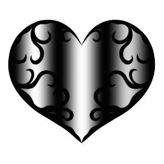 Elegantly pretty gothic heart photo sculpture magnet