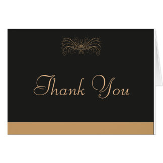Elegantly thank you note card
