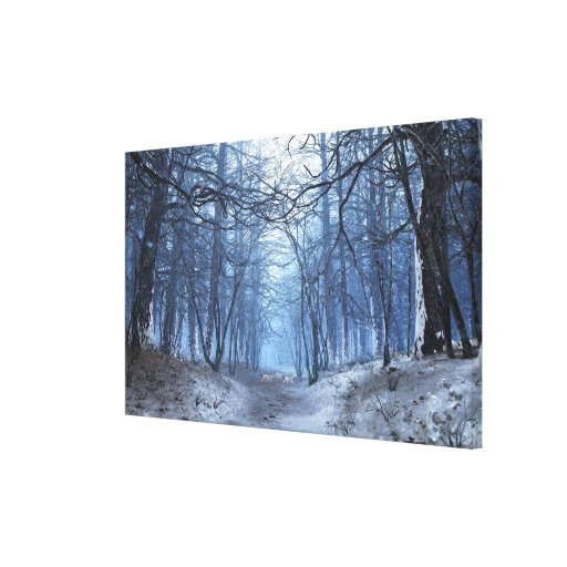 Elegy (Winter Day) Premium Wrapped Canvas Stretched Canvas Prints