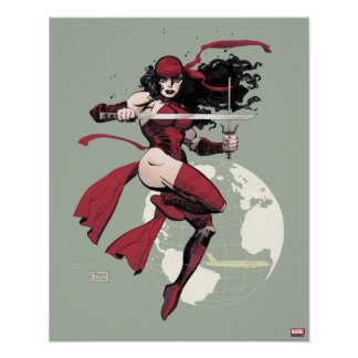 Elektra Traveling The World Poster