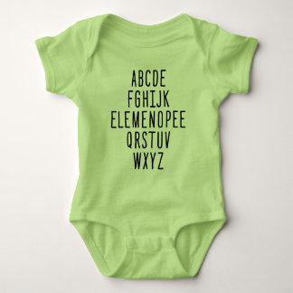 ELEMENOPEE Alphabet Baby Bodysuit
