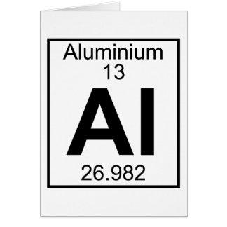 Element 013 - Al - Aluminium (Full) Greeting Card