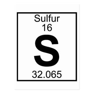 Element 016 - S - Sulfur (Full) Postcard