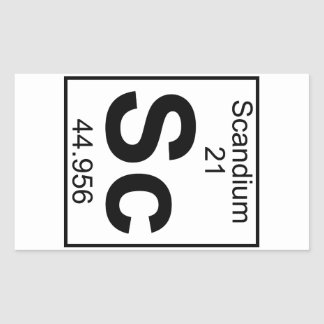 Element 021 - Sc - Scandium (Full) Rectangular Sticker