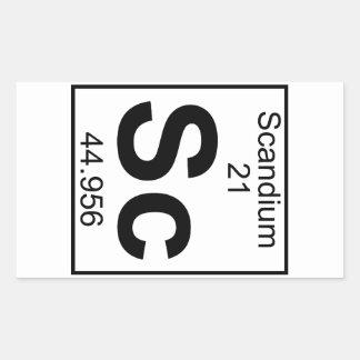 Element 021 - Sc - Scandium Full Rectangle Sticker