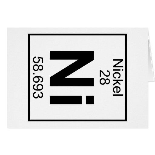 Element 028 - Ni - Nickel (Full) Card