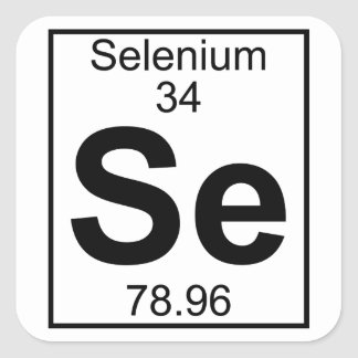 Element 034 - Se - Selenium (Full) Square Sticker