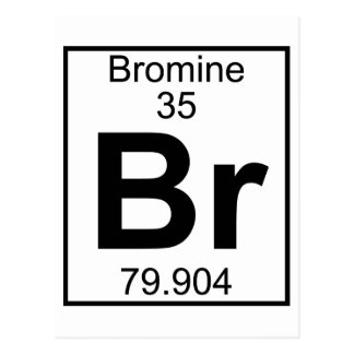 Element 035 - Br - Bromine (Full) Postcard