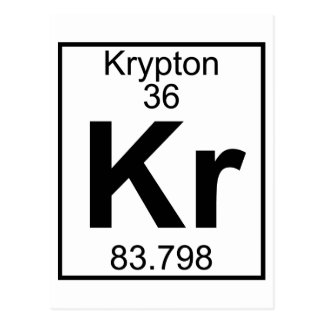 Element 036 - Kr - Krypton (Full) Postcard