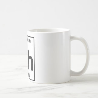 Element 045 - Rh - Rhodium (Full) Basic White Mug