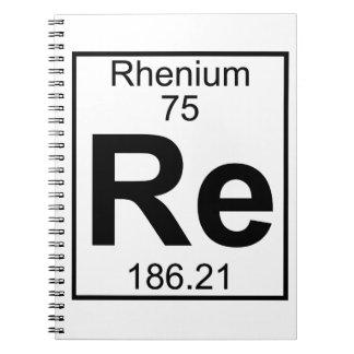 Element 075 - Re - Rhenium (Full) Notebooks