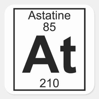 Element 085 - At - Astatine (Full) Square Sticker