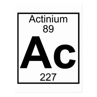 Element 089 - Ac - Actinium (Full) Postcard