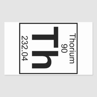 Element 090 - Th - Thorium (Full) Rectangular Sticker