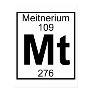 Element 109 - Mt - Meitnerium (Full) Postcard