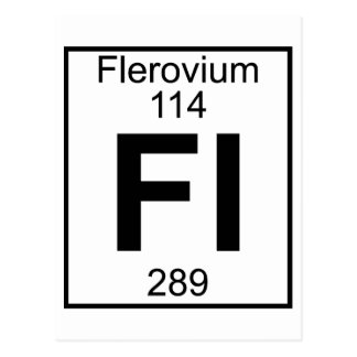 Element 114 - Fl - Flerovium (Full) Postcard