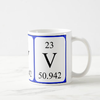 Element 23 white mug - Vanadium