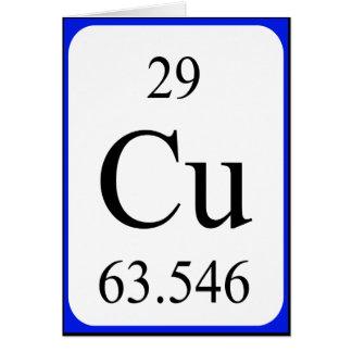 Element 29 card - Copper white