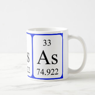 Element 33 white mug - Arsenic