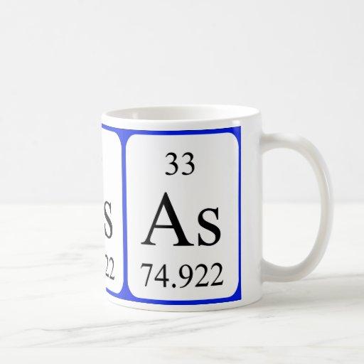 Element 33 white mug - Arsenic